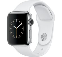 Apple Watch 2 38mm Stainless Steel Case with White Sport Band - MNP42CN/A