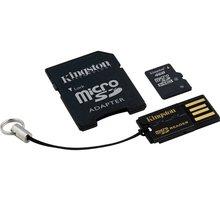 Kingston Micro SDHC 4GB Class 4 + SD adaptér + USB čtečka - MBLY4G2/4GB