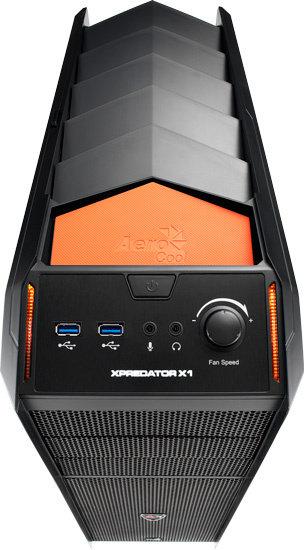 AeroCool XPredator X1 Evil Black Edition (Black/Orange)