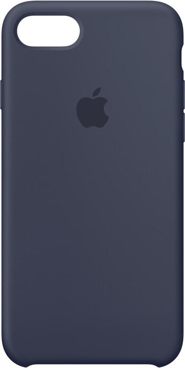 Apple Silikonový kryt na iPhone 7 – půlnočně modrý