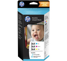 HP T9D88EE, Value Pack, č. 364 + papír 10x15 cm, 50ks
