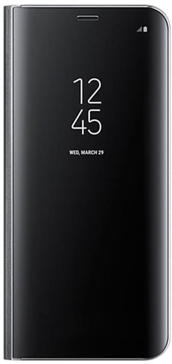 Samsung S8+, Flipové pouzdro Clear View se stojánkem, černá