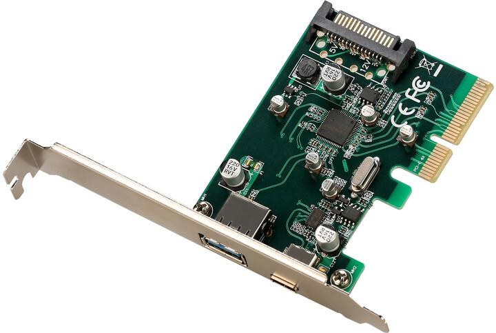 i-Tec PCIe Card USB 3.1 gen2 10Gps Card 1x Type C 1x Type A port
