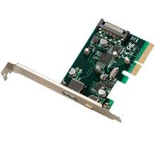 i-Tec PCIe Card USB 3.1 gen2 10Gps Card 1x Type C 1x Type A port - PCE2U31AC
