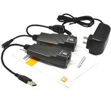 PremiumCord USB 2.0 extender po Cat5/Cat5e/Cat6 do 100m - kuext2