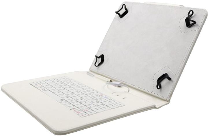 """C-TECH PROTECT NUTKC-04, pouzdro s klávesnicí pro 10,1"""", bílá"""