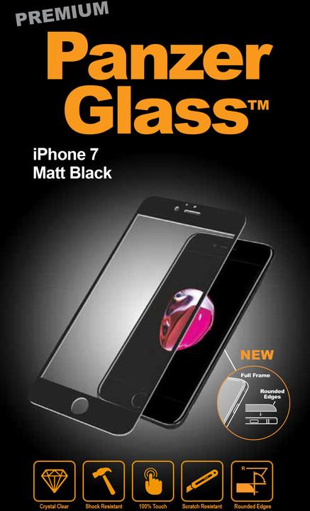PanzerGlass ochranné sklo PREMIUM na displej pro Apple iPhone 7, černé