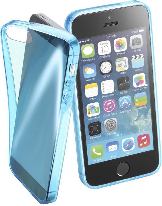 Cellularline FLUO barevné gelové pouzdro pro Apple iPhone 5/5S/SE, modré