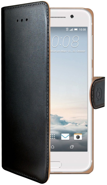CELLY Wally Pouzdro typu kniha pro HTC ONE A9, PU kůže, černé