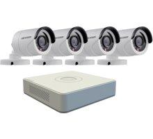Hikvision DS-7104HQHI-F1/N, 4-kanálový AHD DVR + 4x DS-2CE16C0T-IR kamera HD720p, IP66, 2,8mm - DS