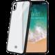 CELLY Laser TPU pouzdro - lemování s matným kovovým efektem pro iPhone X, černé
