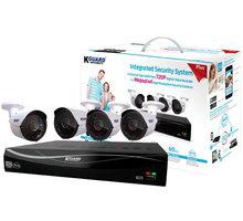 KGUARD set EL431 4-kanálový rekordér DVR 720P FULL HD + 4x 720P barevná venkovní kamera WA713A - EL431-4WA713A