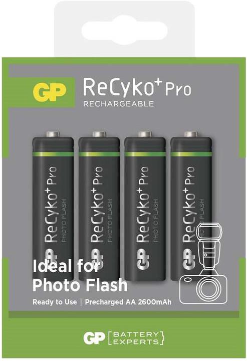 GP AA ReCyko+ Pro PHOTO FLASH series, nabíjecí, 4 ks