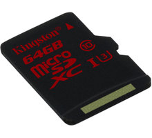 Kingston Micro SDXC 64GB Class 10 UHS-I U3 - SDCA3/64GBSP
