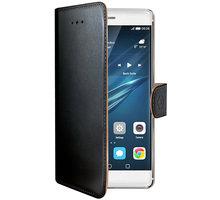 CELLY Wally Pouzdro typu kniha pro Huawei P9, PU kůže, černé - WALLY576