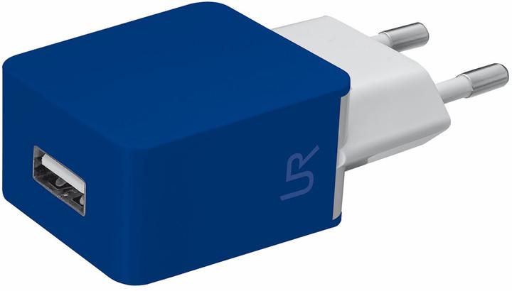 Trust USB nabíječka 5W, 1A, modrá