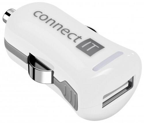 CONNECT IT InCarz COLORZ auto adaptér 1xUSB 2,1A, bílá (V2)
