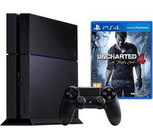 PlayStation 4, 1TB, černá + Uncharted 4: A Thief's End - PS719802655 + Uncharted: The Nathan Drake Collection (PS4) + Gamepad Sony PS4 DualShock 4, černý v ceně 1200kč
