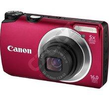 Canon PowerShot A3300, červený