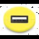CONNECT IT InCarz COLORZ auto adaptér 1xUSB 2,1A, žlutá (V2)