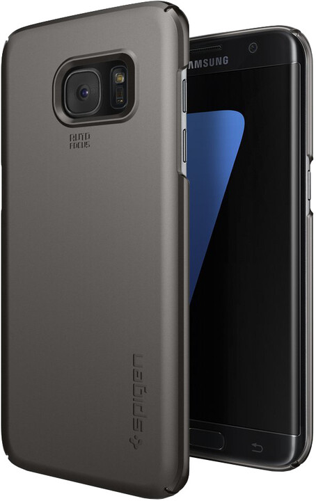 Spigen Thin Fit, gunmetal - Gal S7 edge