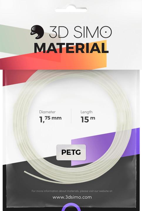 3Dsimo materiál - PETG/PLA (bílá)