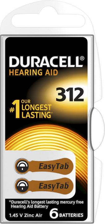 Duracell Hearing Aid - DA312 Duralock