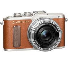 Olympus E-PL8 tělo + 14-42mm, hnědá/stříbrná - V205082NE000