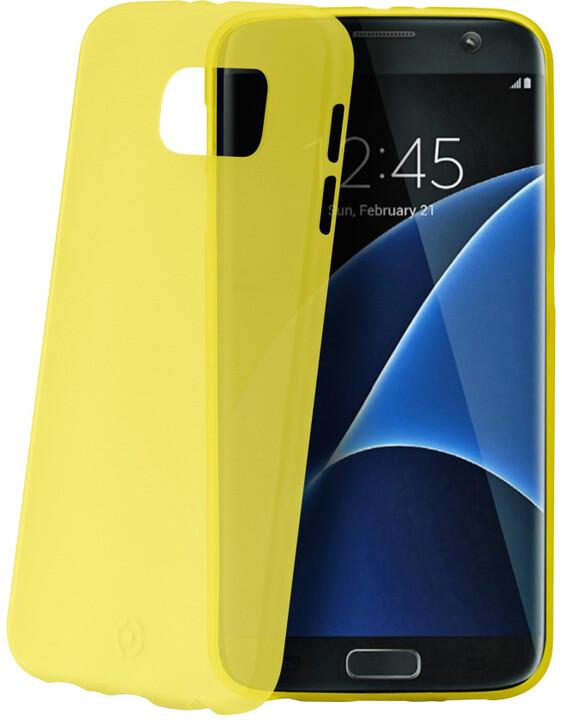 CELLY Frost pouzdro pro Samsung Galaxy S7 Edge, 0,29 mm, žlutá