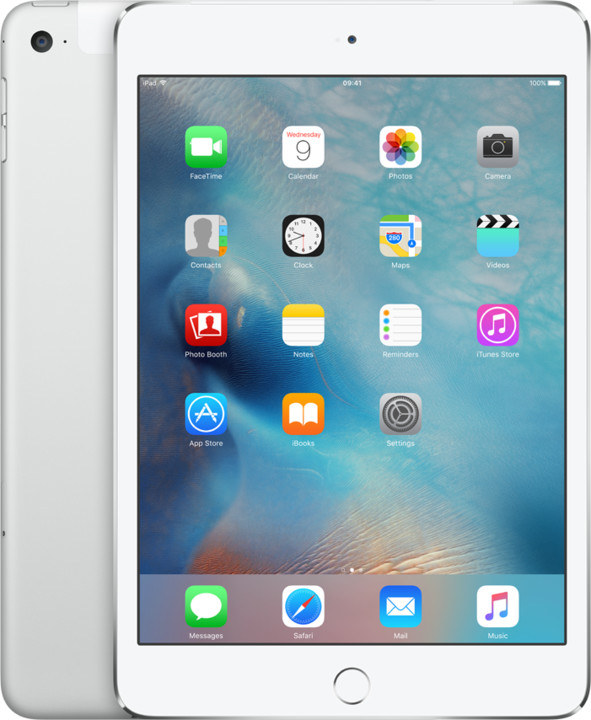 APPLE iPad Mini 4, Cell 128GB, Wi-Fi, stříbrná