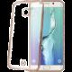 CELLY pouzdro Laser, lemování s kovovým efektem pro Samsung Galaxy S6 Edge, TPU - zlatá