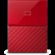 WD My Passport - 4TB, červená