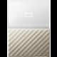 WD My Passport Ultra Metal - 2TB, White/Gold