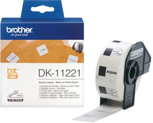 Brother - DK11221 (papírové / čtvercové, 23 mm - 1000 ks)