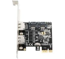 AXAGON PCIe řadič 2x int./ext. SATA III 6G ASMedia - PCES-SA4