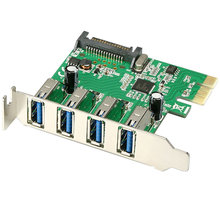 AXAGON PCI-Express adapter 4x USB3.0 Renesas + LP - PCEU-43R