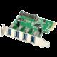AXAGON PCI-Express adapter 4x USB3.0 Renesas + LP