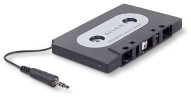 Belkin kazetový adaptér, univerzální 3,5mm jack, černý