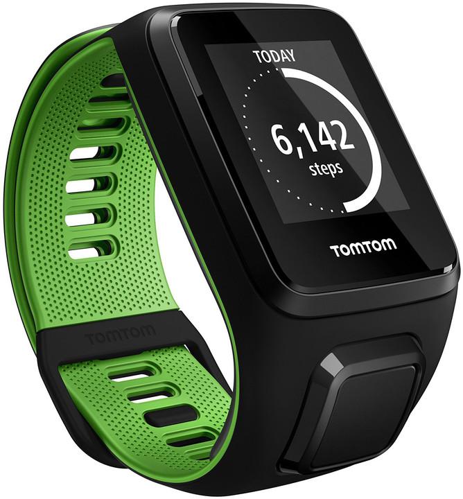 TOMTOM Runner 3 Cardio + Music (L), černá/zelená