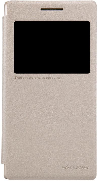 Nillkin Sparkle S-View pouzdro pro Lenovo P70, zlatá