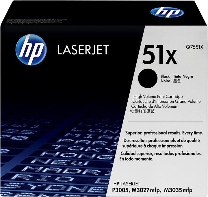 HP Q7551X, černý