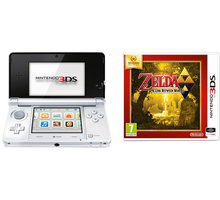 Nintendo 3DS, bílá + Zelda: Link Between Worlds - NI3H042