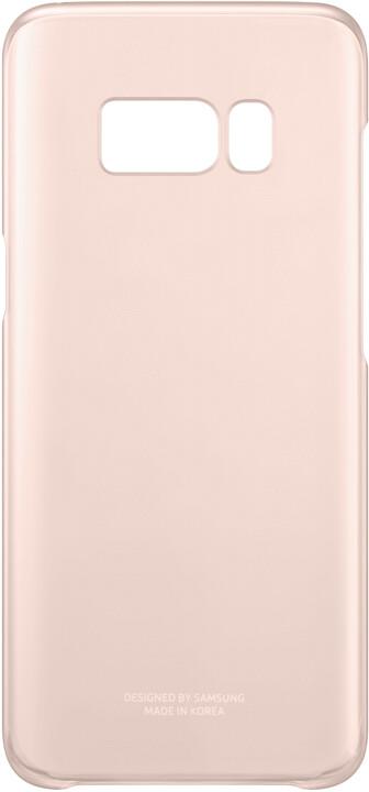 Samsung S8+, Poloprůhledný zadní kryt, růžová