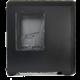 SilentiumPC Gladius M45W, okno, černá