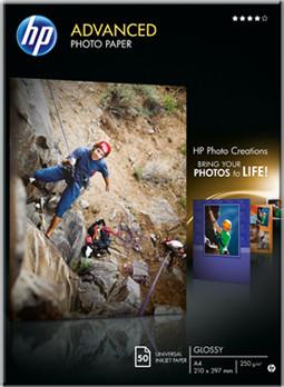 HP Advanced Photo Paper, Glossy, A4, 50 listů, 250 g/m2