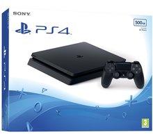 PlayStation 4 Slim, 500GB, černá - PS719845553 + Gamepad Sony DS4 V2, černý v ceně 1400 Kč