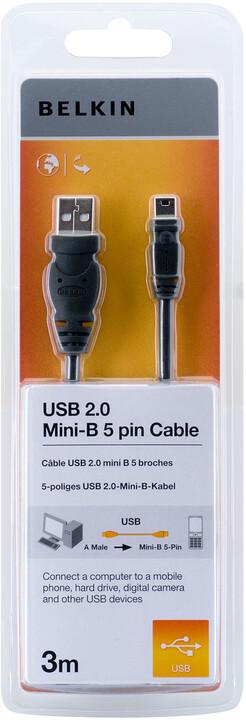 Belkin USB 2.0 kabel A-miniB (5pin), standard, 3 m