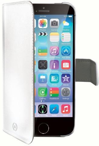 CELLY Wally pro Apple iPhone 6, PU kůže, bílá