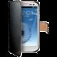 CELLY Wally pro Samsung Galaxy S III/ S III Neo, PU kůže, černá