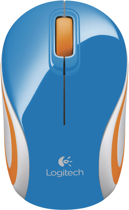 Logitech Wireless Mini Mouse M187, modrá